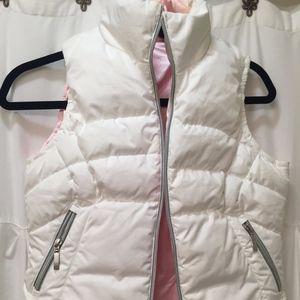White & Pink Nike Down Vest